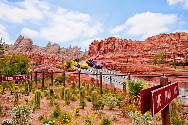 These cars use Rusteze! See more Cars Land photos by Tom Bricker: http://www.disneytouristblog.com/cars-land-photos/