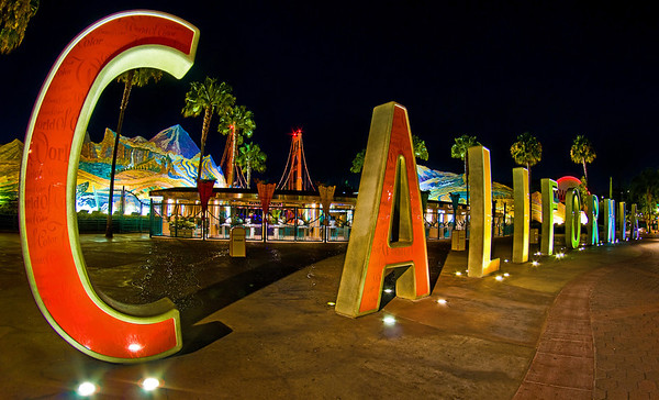 The old C A L I F O R N I A letters that used to be outside the entrance to Disney California Adventure. More on
