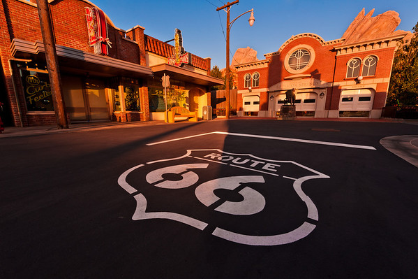 Cars Land at sunset on June 14, 2012 (preview day).