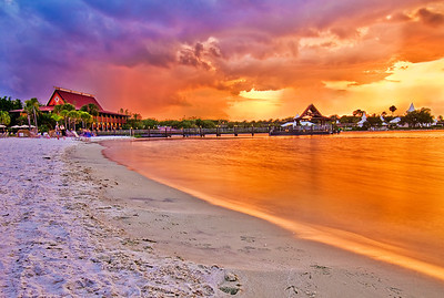 Disney's Polynesian Resort at Sunset