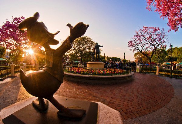 Sunrise photo of Disneyland, captured during