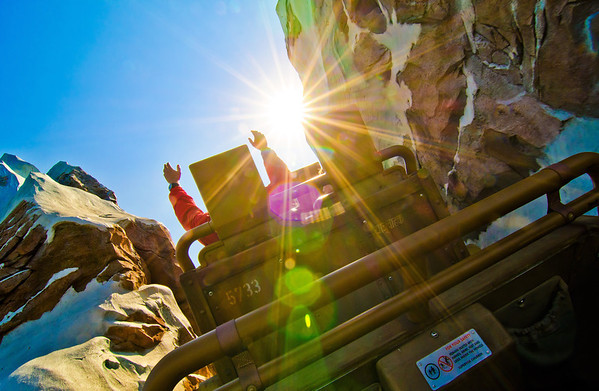 Who loves going backwards on Expedition Everest?