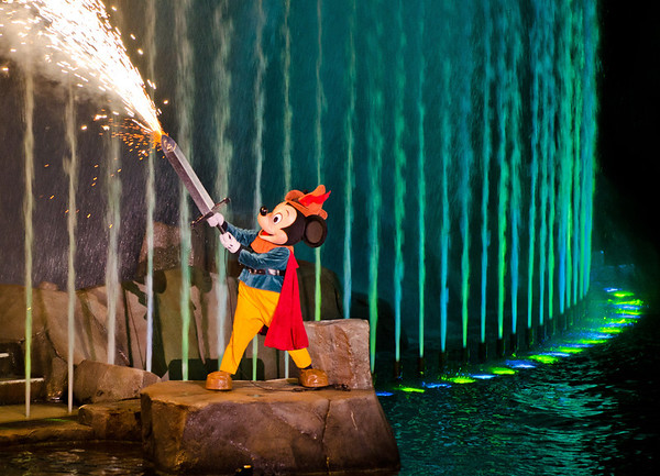 You don't mess with Mickey Mouse's imagination. He'll bust out a flaming sword!!!