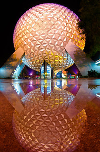 """""""A rainy day at Walt Disney World is better than a nice day at home!""""  More photos from a rainy night in Epcot: http://www.disneytouristblog.com/disney-world-february-2012-trip-report-part-1/"""