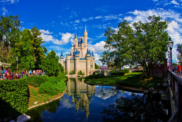 Cinderella Castle photographed with the Nikon 16mm f/2.8 fisheye.Lens: http://amzn.to/14V9KN2