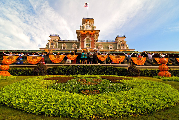 The Magic Kingdom Welcome Show during the Halloween Season!