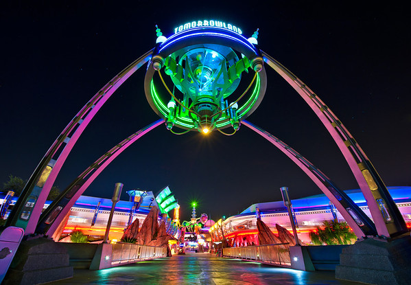 Tomorrowland is my favorite land at night. What is yours?More Tomorrowland night photos: http://www.disneytouristblog.com/tomorrowland-night-photos/