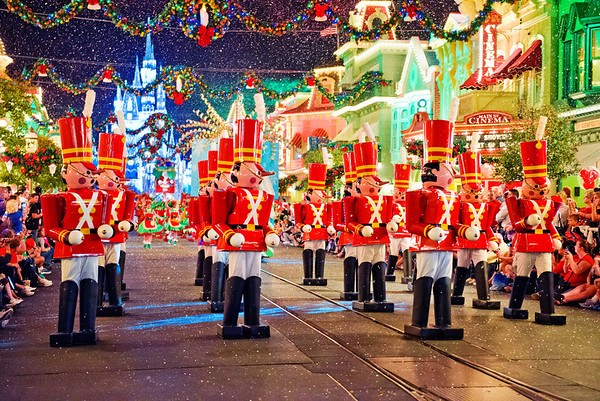The Toy Soldier's in Mickey's Once Upon a Christmastime Parade during Mickey's Very Merry Christmas Party. More Christmas photos in our trip report: http://www.disneytouristblog.com/christmas-2012-disney-world-trip-report/