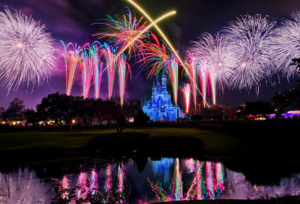 The finale of Holiday Wishes, the fireworks show during Mickey's Very Merry Christmas Party, features perimeter bursts that all around Cinderella Castle!  More on Mickey's Very Merry Christmas Party: www.disneytouristblog.com/mickeys-very-merry-christmas-party-review-tips/