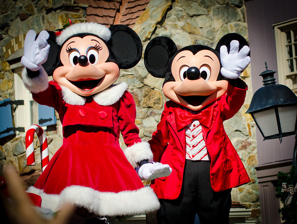 Walt Disney World ResortMagic KingdomMickey's Once Upon A Christmastime ParadeMickey Mouse and Minnie Mouse in their holiday finery! They look ready for Christmas!More information, tips, and planning information for Christmas at Walt Disney World: http://www.disneytouristblog.com/disney-world-christmas-ultimate-guide/