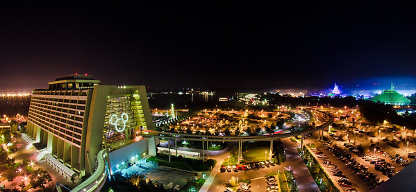 Disney's Contemporary Resort and Magic Kingdom as viewed from Bay Lake Tower. Here's the view of the Fantasy in the Sky (New Year's Eve) fireworks from up there: http://www.disneytouristblog.com/fantasy-in-the-sky-disney-world-fireworks-photo/