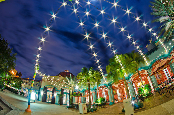 Some gorgeous lights provide great nighttime ambiance at Disney's Coronado Springs Resort. Our review of Coronado Springs: http://www.disneytouristblog.com/disneys-coronado-springs-resort-review/