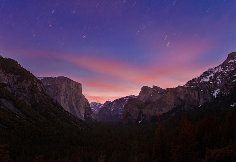 This shot was taken from a popular location in Yosemite National Park called