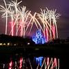 Holiday Wishes fireworks over the Magic Kingdom at Walt Disney World.
