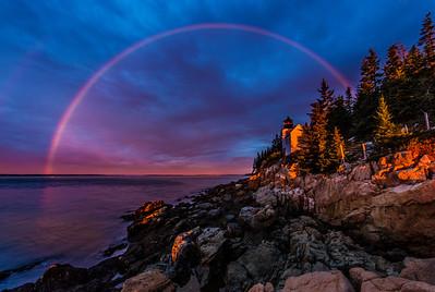 Acadia National Park - Bass Harbor Rainbow Sunrise